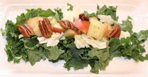 Fall Salad with Cabbage, Kale and Apples