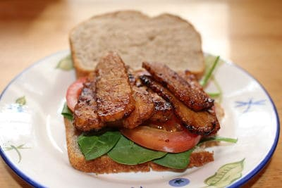 Tempeh Bacon Sandwich