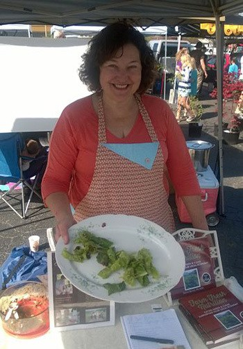Denise at the West Asheville Farmers' Market