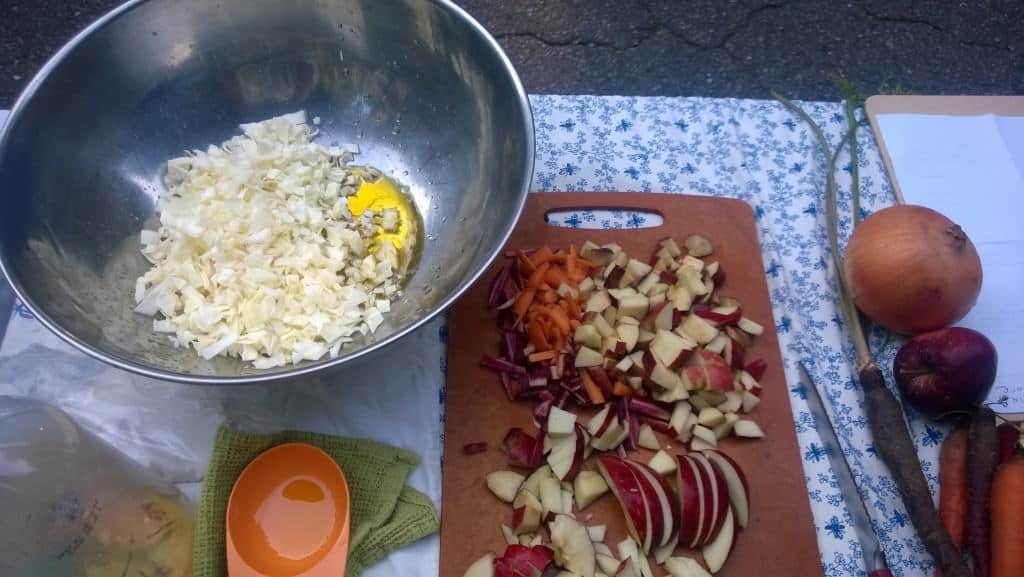 Getting fresh, local ingredients makes this slaw even better!