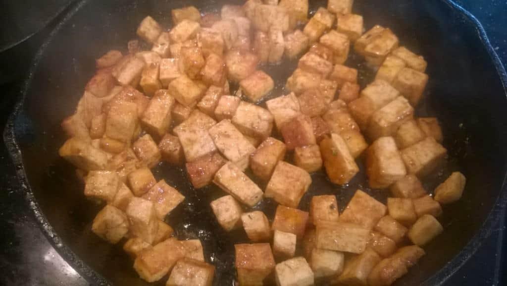 Tofu, Smiling Hara tempeh, or seitan/No Evil Food Plant Meat.