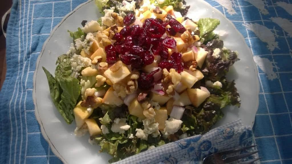 My favorite holiday salad uses apples!