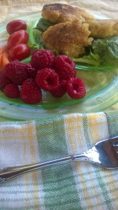 Serve your carrot koftas over greens and serve with the last of the fall raspberries.