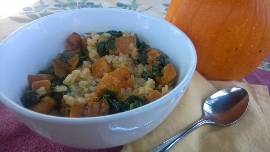 Kale and Butternut Squash Risotto