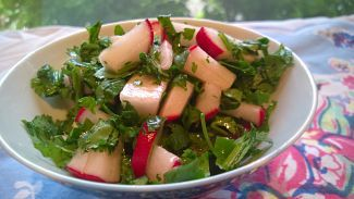 Fall, winter and spring means fresh radish salsa!