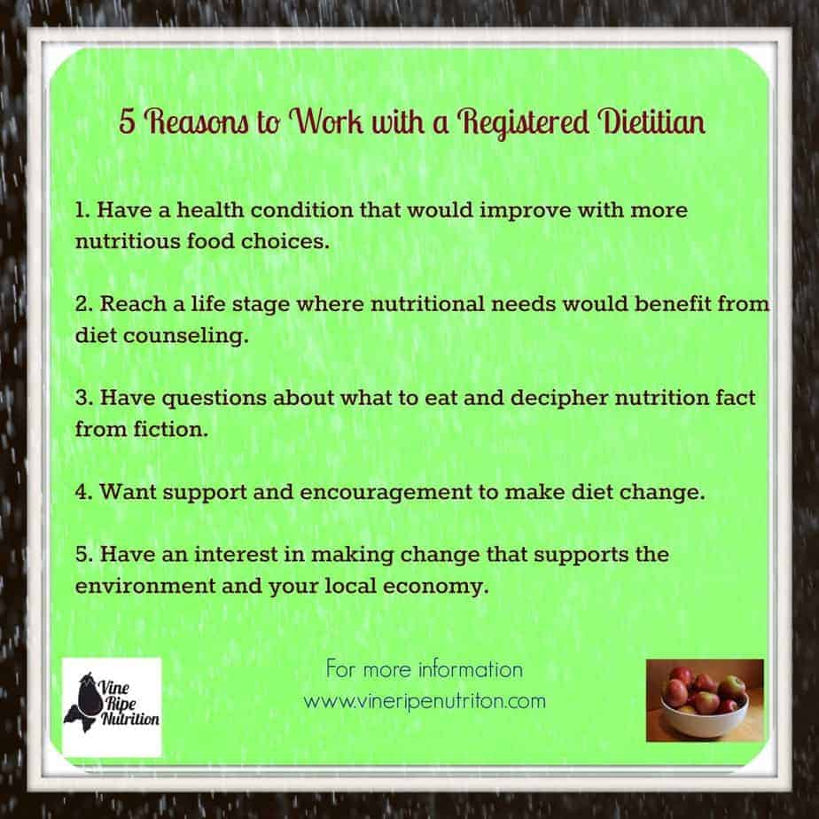 5 reasons to work with a dietitian