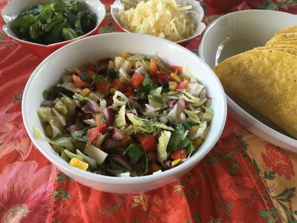 Make this colorful slaw for your taco bar!