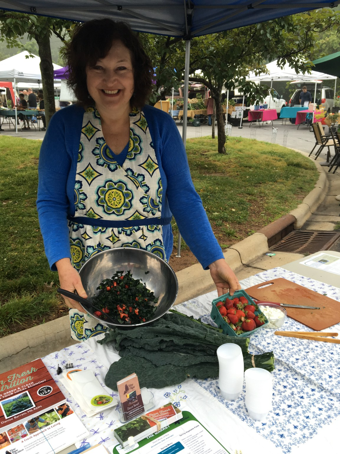 Denise at the farmers' market