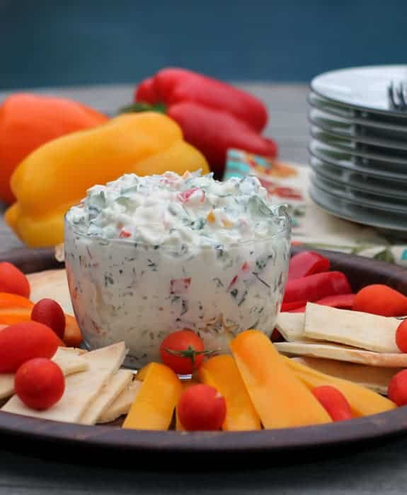 Pepper and Kale Dip