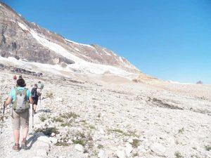 Hiking Up Iceline Trail