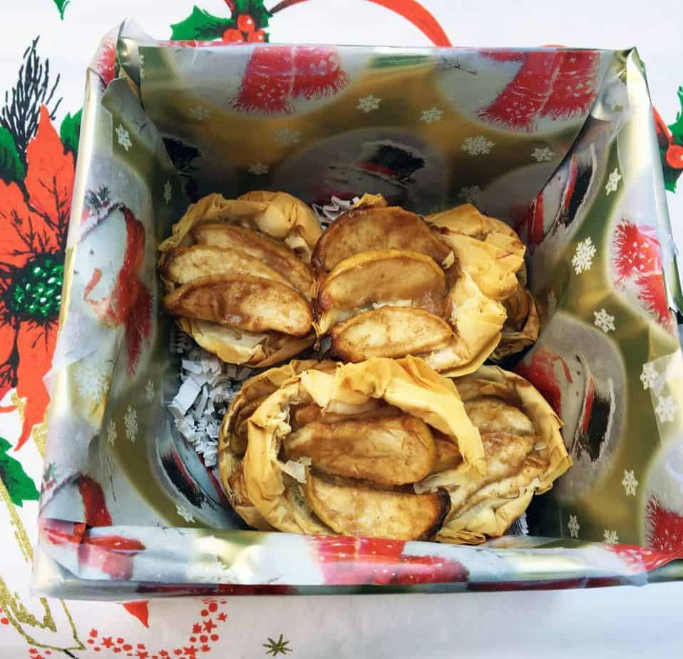 Gift Giving Filo Tarts