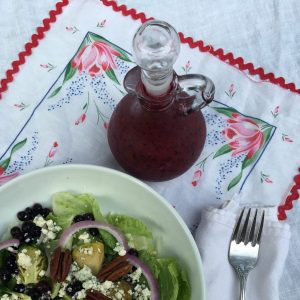 Wild Blueberry Holiday Salad with Wild Blue Berry Vinaigrette