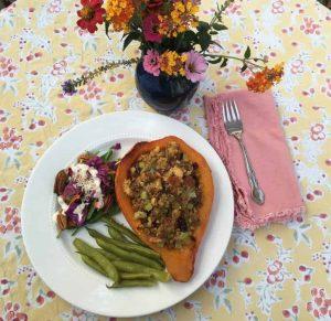 Simple Elegant Veggie Thanksgiving