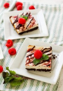 http://zenandspice.com/raspberry-chocolate cheesecake bars/