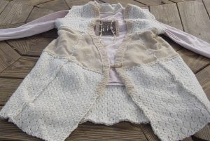 Sweater made from recyled ones