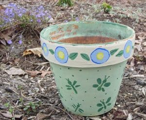 Painted Flower Pot