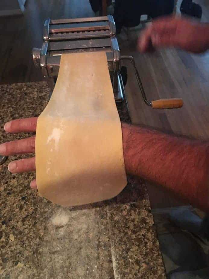My husband making pasta