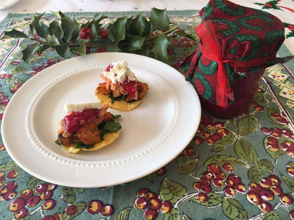 Festive Holiday Mini Trout Tostadas