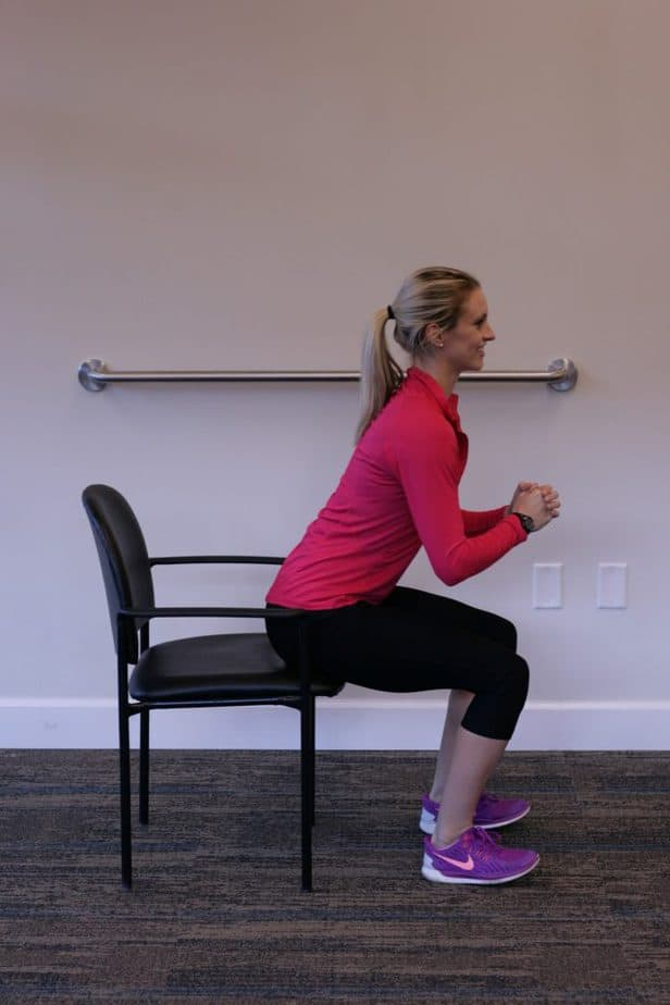 Michelle shared the best way to sit in the chair