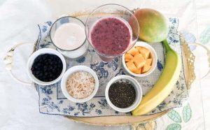 Wild Blueberry Smoothie Ingredients