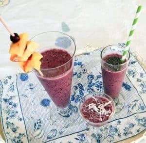 Wild Blueberry Tropical Smoothie