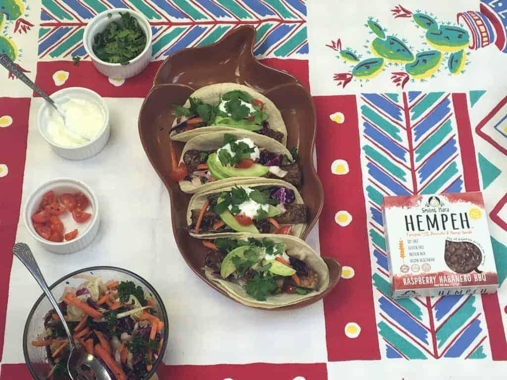Raspberry Hempeh Tacos