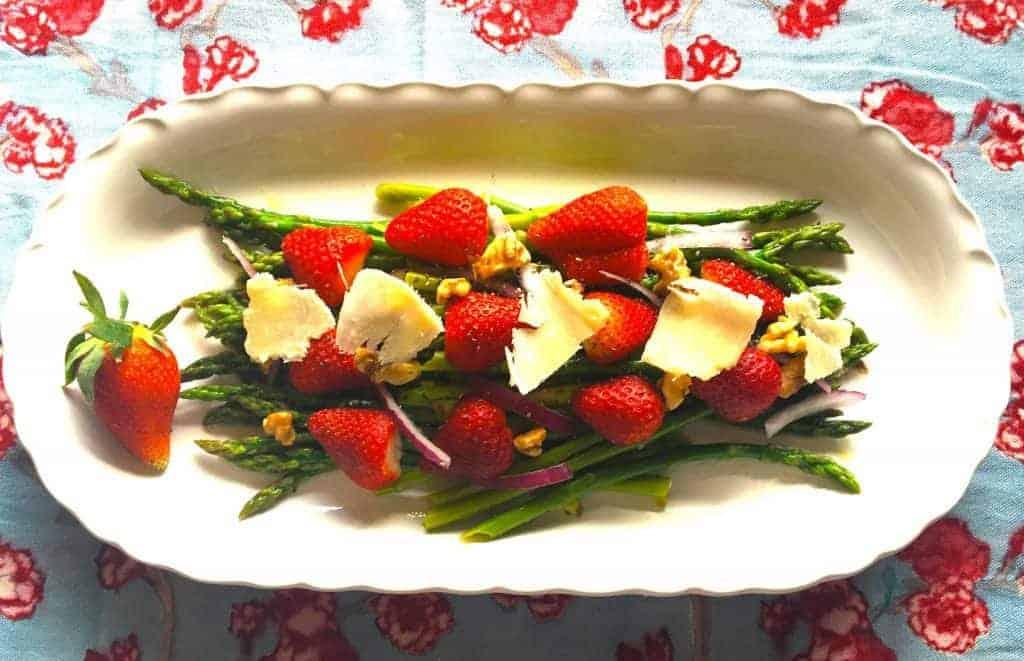 Spring Strawberry Asparagus Salad