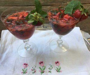 Strawberry Mint Fizz