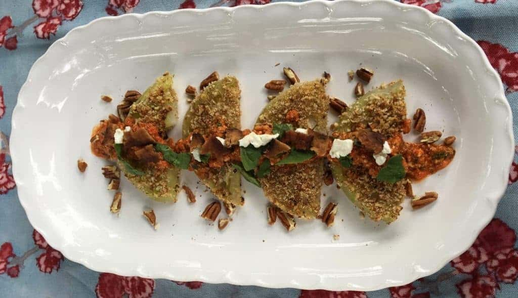 Crunchy Green Tomatoes without Frying