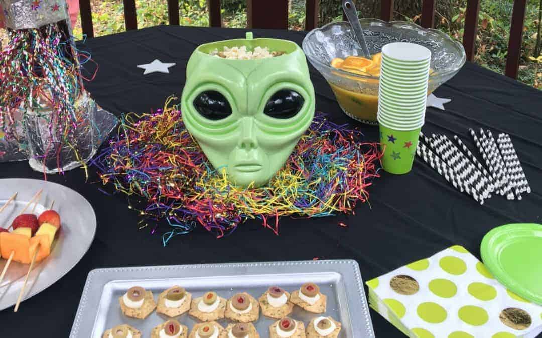 Halloween Treats for an Alien Space Party!