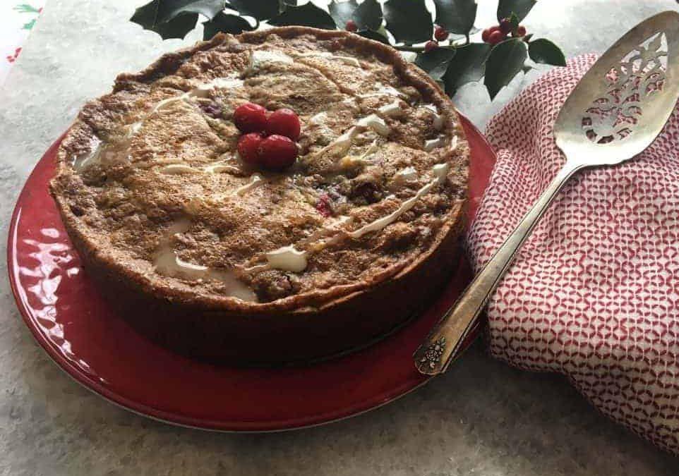 Low Fodmap Cranberry Walnut Coffee Cake