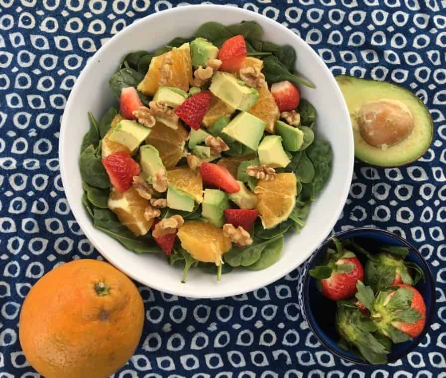 Colorful Winter Salad with Antioxidants