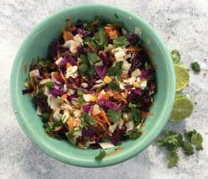 Healthy Mexican Cabbage Slaw