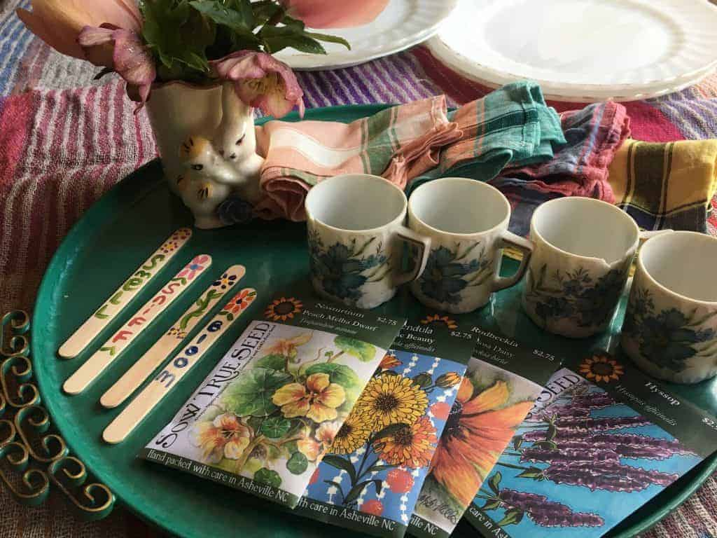 Seed packets, garden markers and great food make a party to remember.