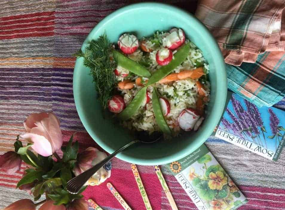 Spring Vegetable Salad with Rice