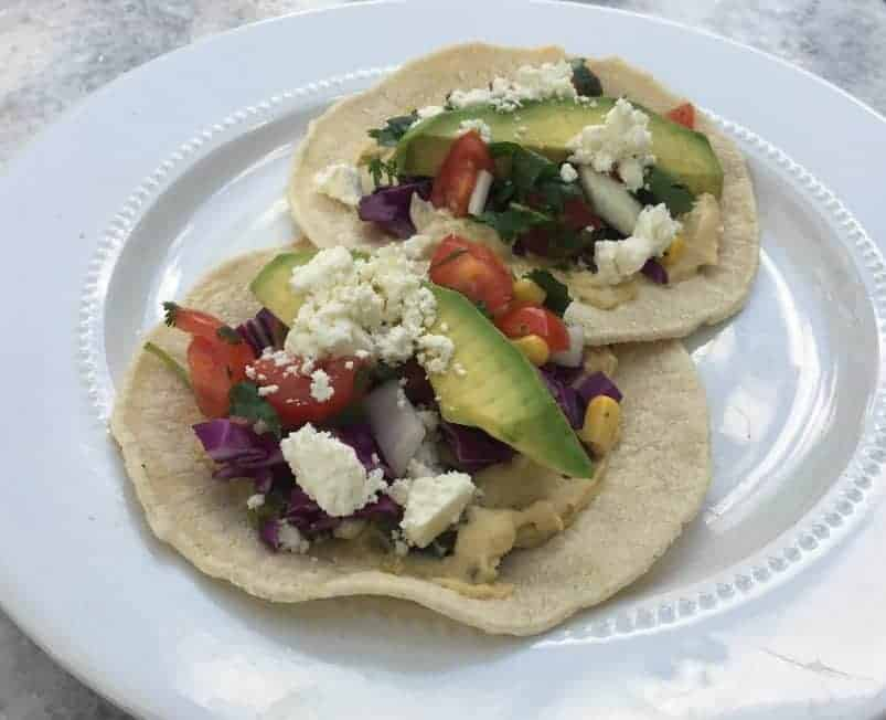 Hummus Taco with Fresh Veggies